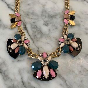 J.Crew Statement Art Deco Multicolored Necklace